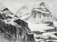 "Jungfraujoch V, graphite on paper, 22 1/2 x 30"", 2011"