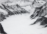 "Jungfraujoch III, graphite on paper, 22 1/2 x 30"", 2011"