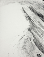 "Jungfraujoch II, graphite, 30 x 22 1/2"", 2011"