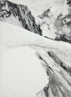"Jungfraujoch I, graphite, 30 x 22 1/2"", 2011"