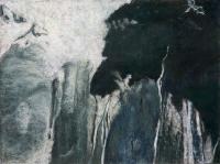 "Staubbachfall I, pastel, 22 1/2 x 30"", 2010"