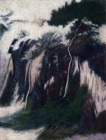 "Staubbachfall III, 30 x 22 1/2"", 2010"