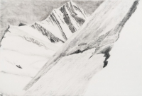 "Jungfraujoch XII, graphite on paper, 30 x 44 1/2"", 2013"