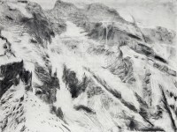 "Jungfraujoch IV, graphite on paper, 22 1/2 x 30"", 2011"