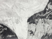 "Jungfraujoch VI, graphite on paper, 22 1/2 x 30"", 2011"