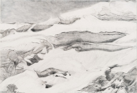 "Jungfraujoch IX, graphite on paper, 30 x 44 1/2"", 2013"