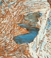 "Watkins Glen III, etching, 9 x 8"", 2002"