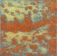 "Punta Morena I, Variation 3, viscosity-printed etching, 7 x 7"", 2004"