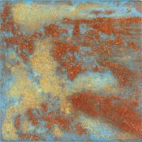 """Punta Morena IV, Variation 3, viscosity-printed etching, 7 x 7"""", 2004"""