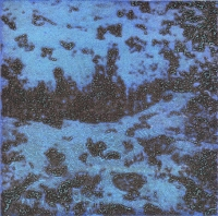 "Punta Morena I, Variation 16, viscosity-printed etching, 7 x 7"", 2004"