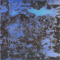 "Punta Morena II, Variation 16, viscosity-printed etching, 7 x 7"", 2004"
