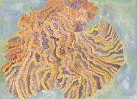 "Coral I, gouache, 10 1/4 x 14 1/8"", 2014"