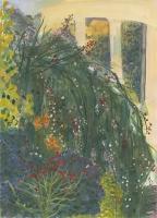 "Untermyer Gardens I, gouache, 14 1/8 x 10 1/4"", 2014"