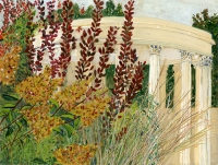 "Untermyer Gardens III, gouache, 12 1/4  x 16 1/4"", 2015"