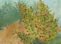 "Untermyer Gardens II, gouache, 10 1/4 x 14  1/8"", 2015"