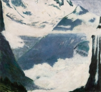 "Bernese Oberland II, oil on linen, 20 x 22"", 2011"