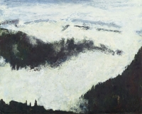 """Above Red Lady Basin I, oil on panel, 16 x 20"""", 1998"""