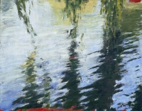 "Weeping Willow, Central Park, oil on panel, 11 x 14"", 1998"