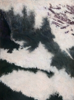 "Snow Cloud Rock Forest I, pastel, 30 x 22 1/2"", 2010"