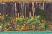"Palisades, View from Untermyer Park, pastel, 15 x 22 1/4"", 2016"