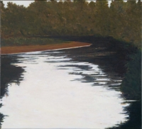"Cannon River Night, oil on linen, 20 x 22"", 2005"