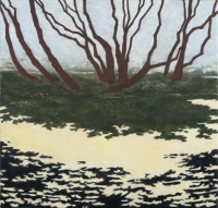 """Red Wing Shadows II, oil on linen, 22 x 23"""", 2005"""