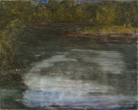 "Cannon River Night II, monotype, 10 1/4 x 12 7/8"", 2003"