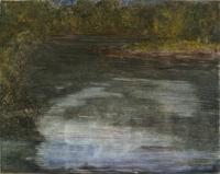 "Cannon River Night II, monotype, 10 1/4 x 12 7/8"", 2003"