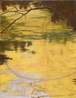 "Belle Creek I, oil on linen, 22 x 17"", 2005"