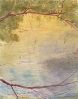 "Belle Creek VI, monotype, 12 7/8 x 10 1/4"", 2003"