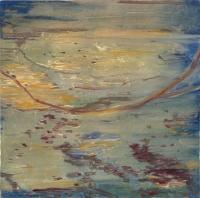"Belle Creek I, monotype, 7 3/4 x 7 3/4 "", 2003"