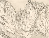 """Horcado de Pambuches, Espana, ink, 9 x 11 1/2"""", 2016"""