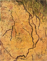 "La Pared de Tierra, monotype, 11 1/2 x 8 3/4"", 2001"