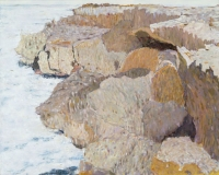 "Punta Morena II, oil on panel, 16 x 20"", 2002"