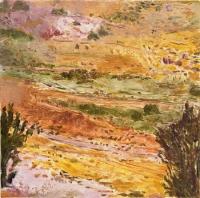 """El Rio Aguas, monotype, 8 3/4 x 8 3/4"""", 2001"""