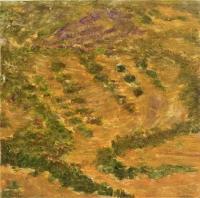 """Los Almendros, monotype, 8 3/4 x 8 3/4"""", 2001"""