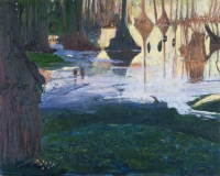 "Merchants Millpond III, oil on panel, 16 x 20"", 1998"
