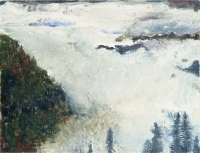 "Rising Mist, Red Lady Basin, monotype, 9 x 12"", 1998"